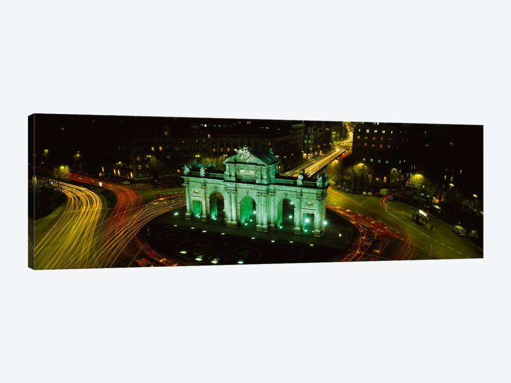 High-Angle View Of Puerta de Alcala, Plaza de la Independencia, Madrid, Spain by Panoramic Images 1-piece Canvas Wall Art