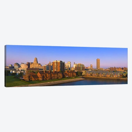 High angle view of a city, Buffalo, New York State, USA Canvas Print #PIM8031} by Panoramic Images Canvas Art