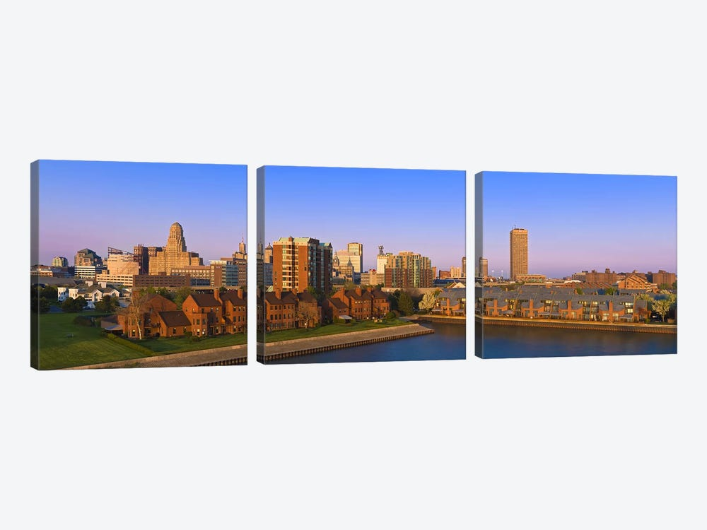 High angle view of a city, Buffalo, New York State, USA by Panoramic Images 3-piece Art Print
