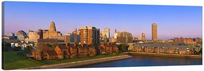 High angle view of a city, Buffalo, New York State, USA Canvas Art Print