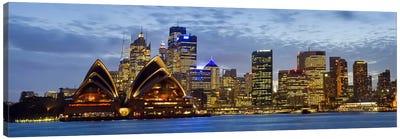 Illuminated Cityscape, Sydney, New South Wales, Australia Canvas Print #PIM8037