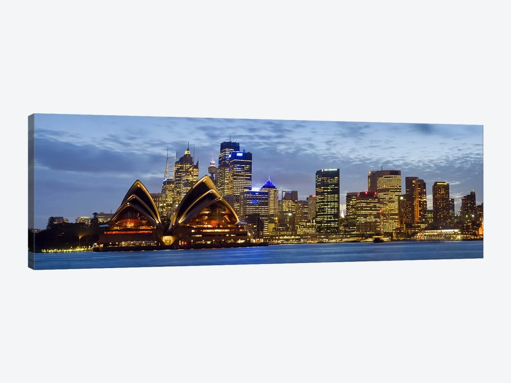 Illuminated Cityscape, Sydney, New South Wales, Australia by Panoramic Images 1-piece Canvas Art Print