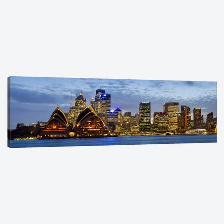 Illuminated Cityscape, Sydney, New South Wales, Australia Canvas Print #PIM8037} by Panoramic Images Canvas Print