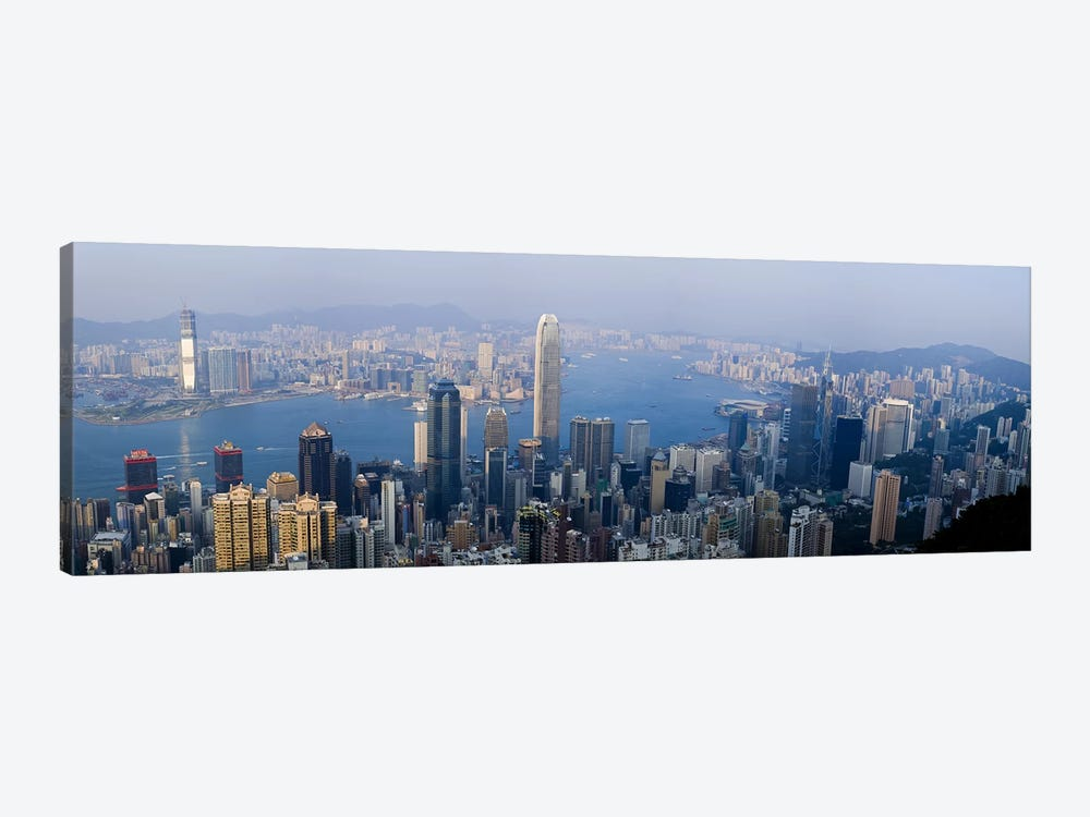 Aerial View Of Victoria Harbour And Surrounding Districts, Hong Kong, People's Republic Of China by Panoramic Images 1-piece Art Print