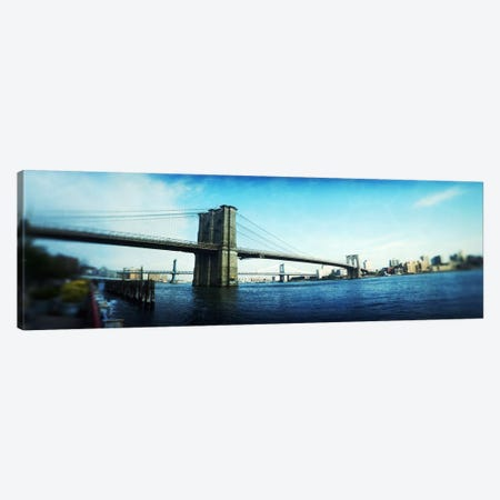 Bridge across a river, Brooklyn Bridge, East River, Brooklyn, New York City, New York State, USA Canvas Print #PIM8046} by Panoramic Images Canvas Art