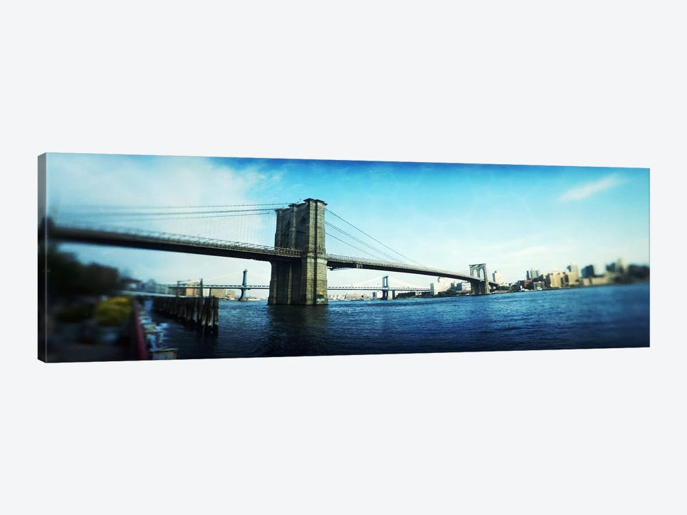 Bridge across a river, Brooklyn Bridge, East River, Brooklyn, New York City, New York State, USA by Panoramic Images 1-piece Art Print