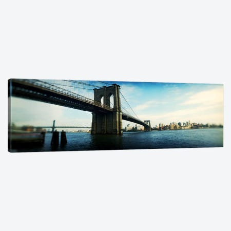 Bridge across a river, Brooklyn Bridge, East River, Brooklyn, New York City, New York State, USA #2 Canvas Print #PIM8047} by Panoramic Images Canvas Art