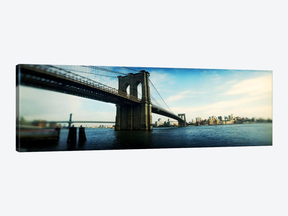 Bridge across a river, Brooklyn Bridge, East River, Brooklyn, New York City, New York State, USA #2 by Panoramic Images 1-piece Canvas Art
