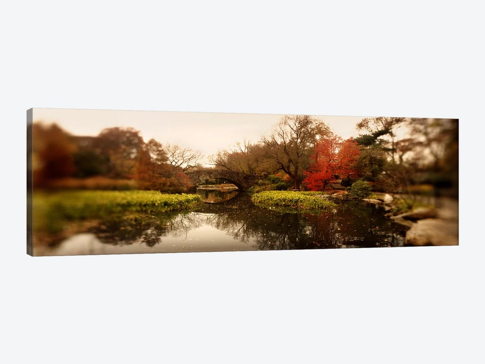 Pond in a park, Central Park, Manhattan, New York City, New York State, USA by Panoramic Images 1-piece Canvas Artwork