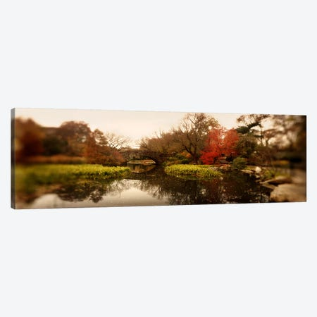 Pond in a park, Central Park, Manhattan, New York City, New York State, USA 3-Piece Canvas #PIM8050} by Panoramic Images Canvas Art