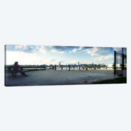 People in a park, East River Park, East River, Williamsburg, Brooklyn, New York City, New York State, USA Canvas Print #PIM8051} by Panoramic Images Canvas Wall Art