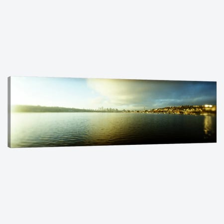 City at the waterfront with Gasworks Park in the background, Seattle, King County, Washington State, USA Canvas Print #PIM8052} by Panoramic Images Canvas Artwork