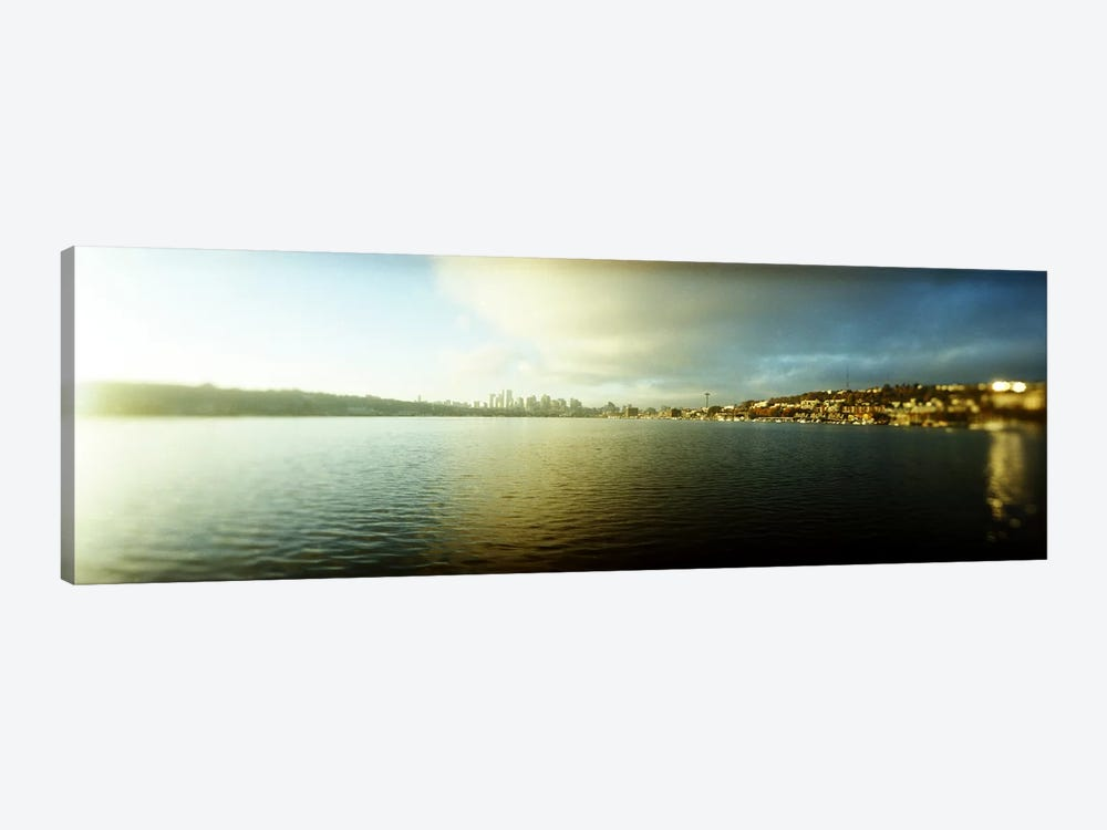 City at the waterfront with Gasworks Park in the background, Seattle, King County, Washington State, USA by Panoramic Images 1-piece Canvas Wall Art