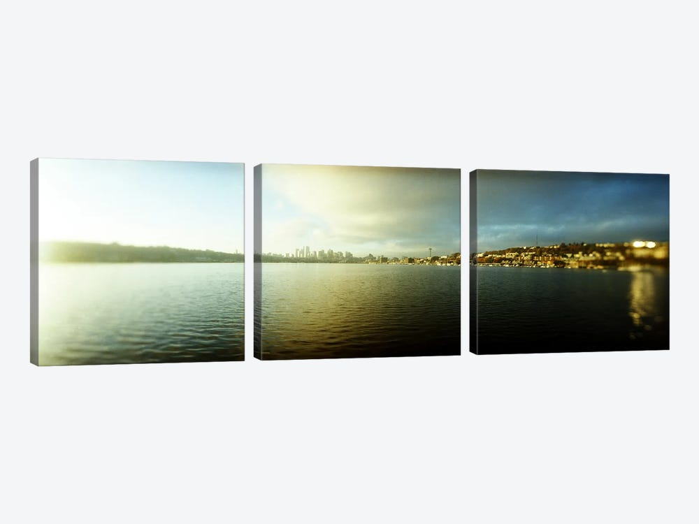 City at the waterfront with Gasworks Park in the background, Seattle, King County, Washington State, USA by Panoramic Images 3-piece Canvas Art