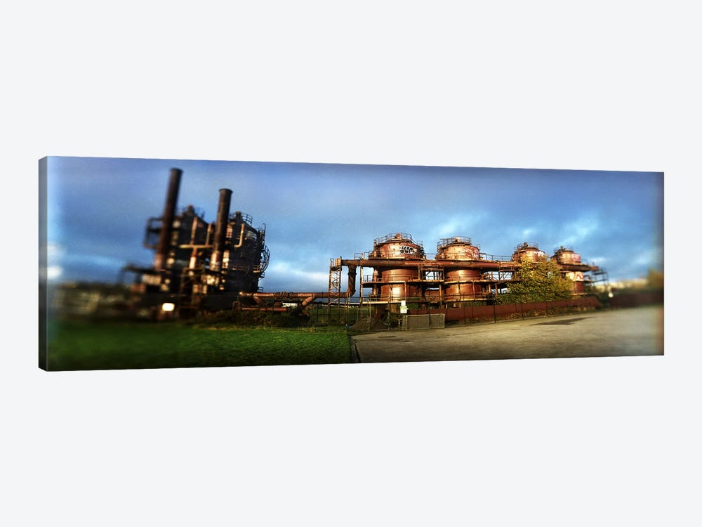 Old oil refinery, Gasworks Park, Seattle, King County, Washington State, USA by Panoramic Images 1-piece Canvas Art Print