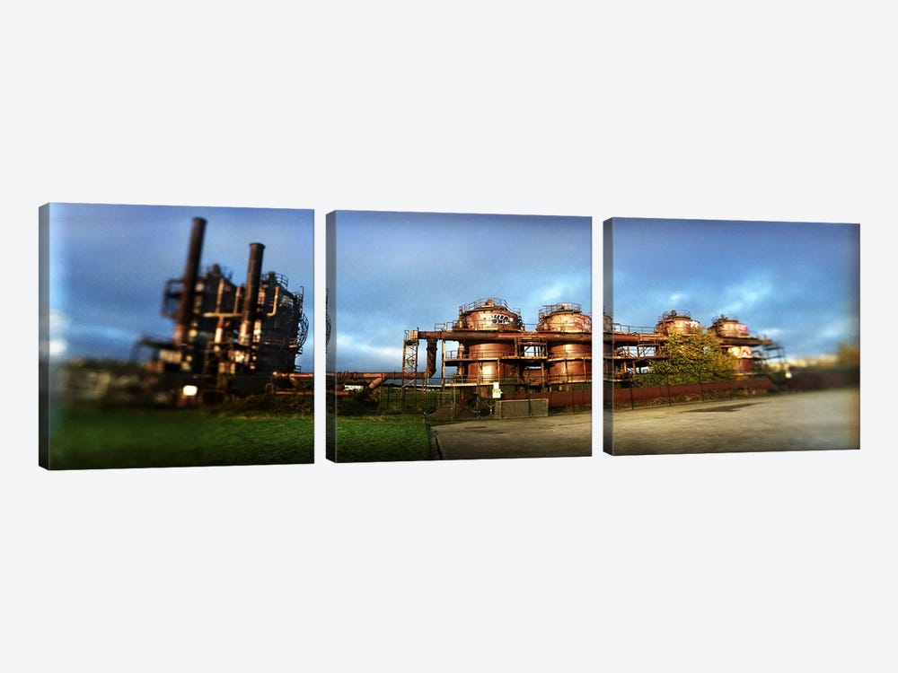 Old oil refinery, Gasworks Park, Seattle, King County, Washington State, USA by Panoramic Images 3-piece Canvas Print