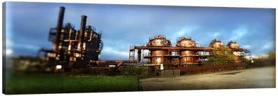 Old oil refinery, Gasworks Park, Seattle, King County, Washington State, USA Canvas Art Print