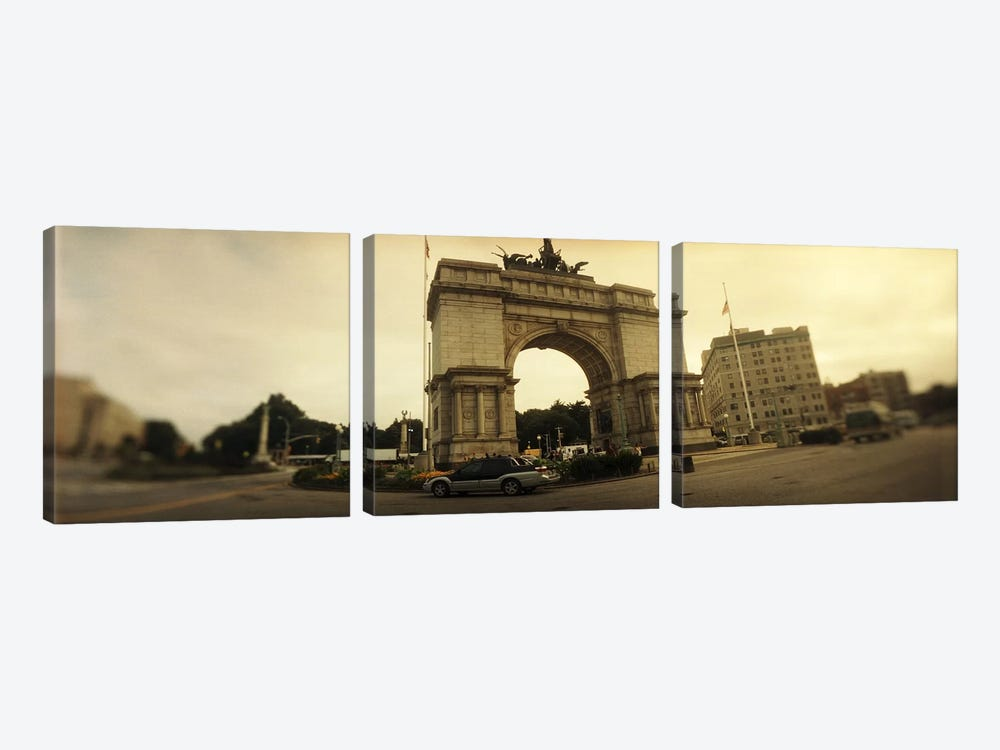 War memorial, Soldiers And Sailors Memorial Arch, Prospect Park, Grand Army Plaza, Brooklyn, New York City, New York State, USA by Panoramic Images 3-piece Art Print