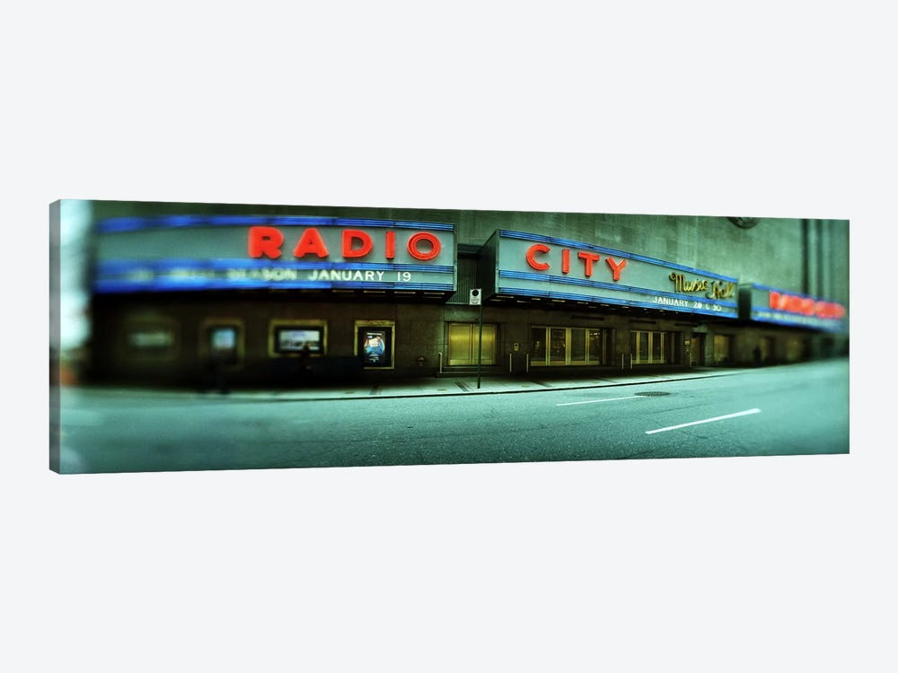 Secondary Marquee, Radio City Music Hall, Rockefeller Center, New York City, New York, USA by Panoramic Images 1-piece Canvas Artwork