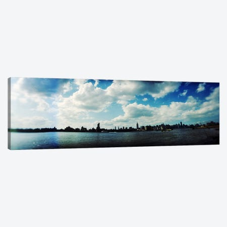 Manhattan skyline viewed from East River Park, East River, Williamsburg, Brooklyn, New York City, New York State, USA Canvas Print #PIM8064} by Panoramic Images Canvas Artwork