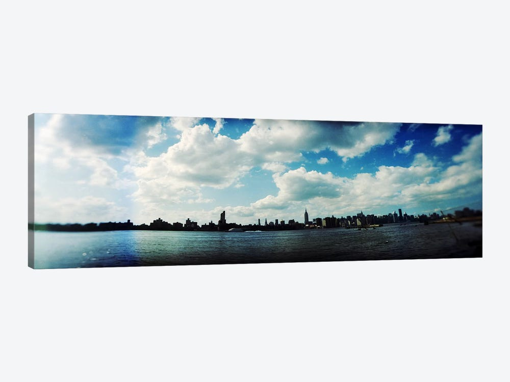 Manhattan skyline viewed from East River Park, East River, Williamsburg, Brooklyn, New York City, New York State, USA by Panoramic Images 1-piece Canvas Art Print