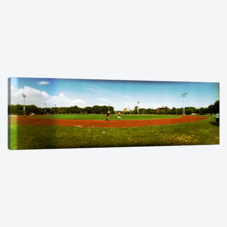 People jogging in a public park, McCarren Park, Greenpoint, Brooklyn, New York City, New York State, USA Canvas Print #PIM8066} by Panoramic Images Canvas Artwork