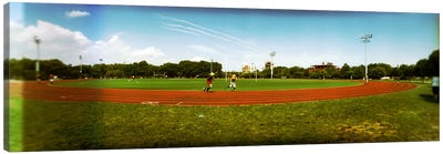 People jogging in a public park, McCarren Park, Greenpoint, Brooklyn, New York City, New York State, USA Canvas Art Print
