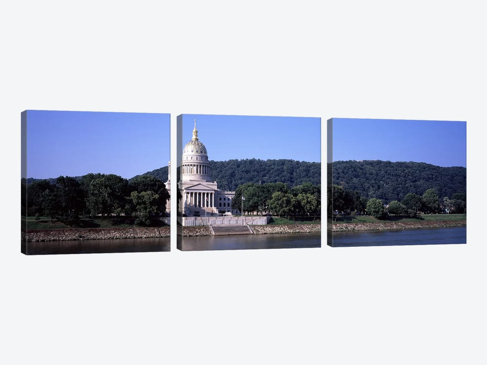 West Virginia State Capitol, Charleston, Kanawha County, West Virginia, USA by Panoramic Images 3-piece Canvas Artwork