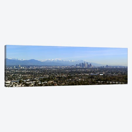 City with mountains in the backgroundLos Angeles, California, USA Canvas Print #PIM8072} by Panoramic Images Canvas Artwork