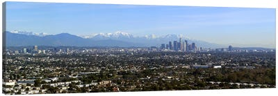 City with mountains in the backgroundLos Angeles, California, USA Canvas Art Print
