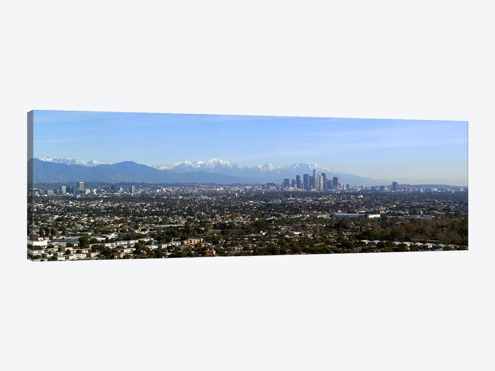 City with mountains in the backgroundLos Angeles, California, USA by Panoramic Images 1-piece Canvas Wall Art