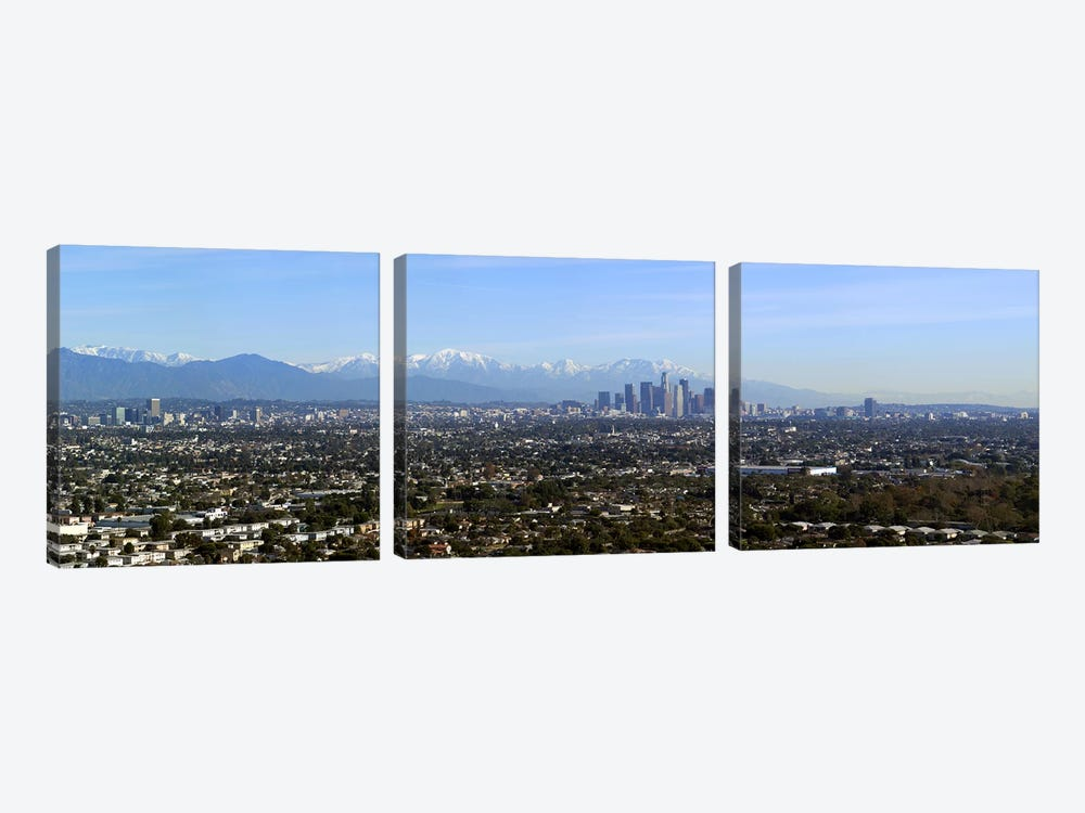 City with mountains in the backgroundLos Angeles, California, USA by Panoramic Images 3-piece Canvas Wall Art