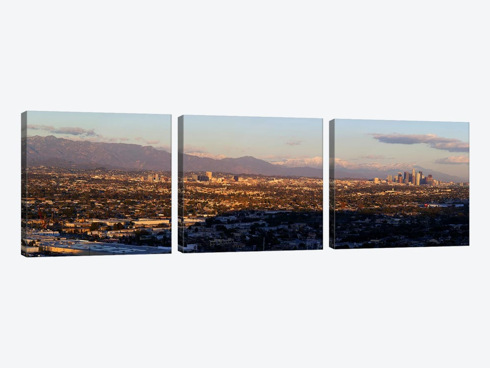 Buildings in a cityLos Angeles, California, USA by Panoramic Images 3-piece Art Print