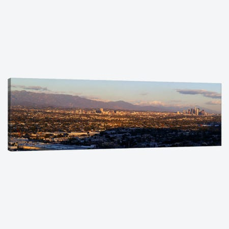 Buildings in a cityLos Angeles, California, USA Canvas Print #PIM8073} by Panoramic Images Canvas Artwork