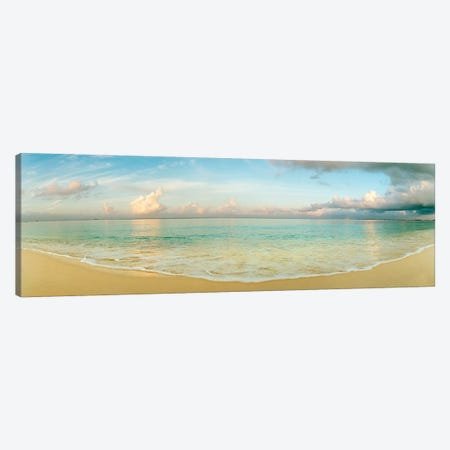 Cloudy Beachscape, Seven Mile Beach, Grand Cayman, Cayman Islands Canvas Print #PIM8081} by Panoramic Images Canvas Print