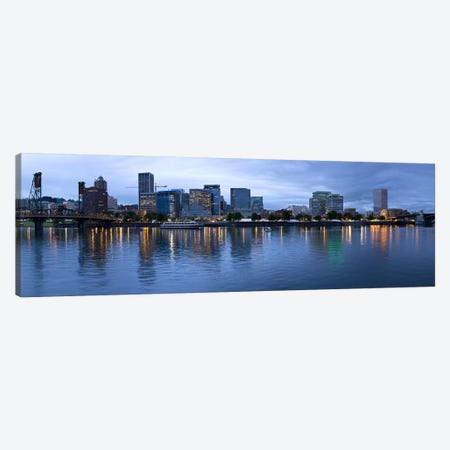 Skyline as seen from the Vera Katz Eastbank Esplanade, Willamette River, Portland, Multnomah County, Oregon, USA #2 Canvas Print #PIM8084} by Panoramic Images Canvas Artwork
