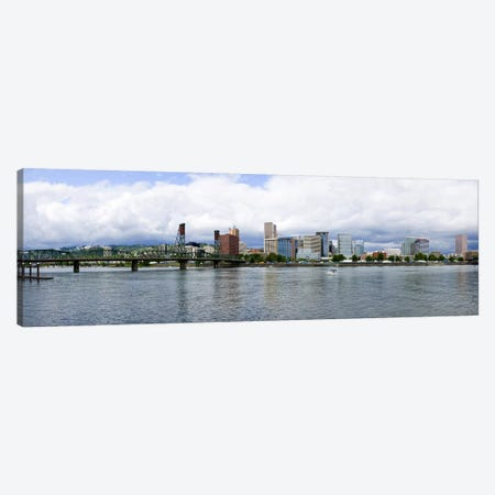 Skyline as seen from the Vera Katz Eastbank Esplanade, Willamette River, Portland, Multnomah County, Oregon, USA #3 Canvas Print #PIM8085} by Panoramic Images Canvas Wall Art