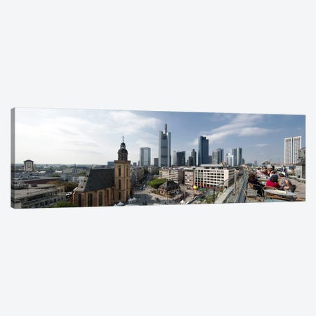 Buildings in a city, St. Catherine's Church, Hauptwache, Frankfurt, Hesse, Germany 2010 Canvas Print #PIM8091} by Panoramic Images Canvas Art