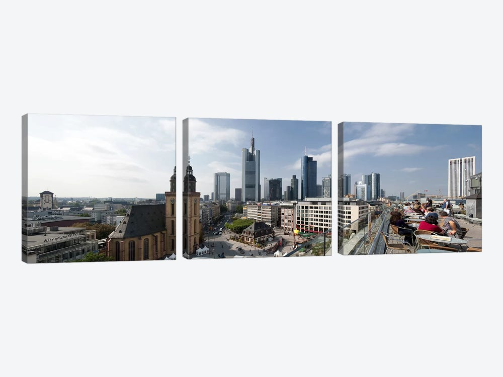 Buildings in a city, St. Catherine's Church, Hauptwache, Frankfurt, Hesse, Germany 2010 by Panoramic Images 3-piece Art Print