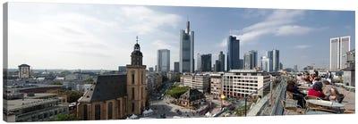 Buildings in a city, St. Catherine's Church, Hauptwache, Frankfurt, Hesse, Germany 2010 Canvas Art Print