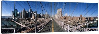 360 degree view of a bridge, Brooklyn Bridge, East River, Brooklyn, New York City, New York State, USA Canvas Print #PIM8099
