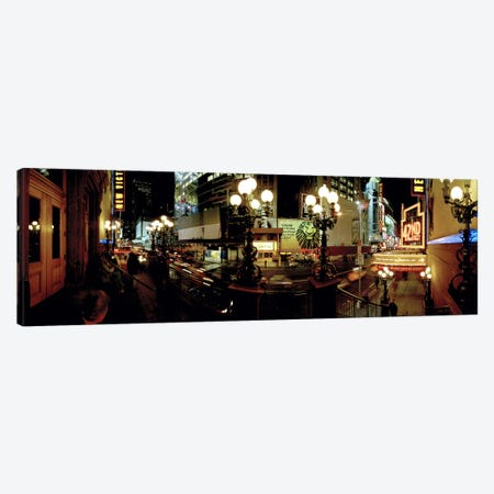 360 degree view of a city lit up at night, Broadway, Manhattan, New York City, New York State, USA Canvas Print #PIM8102} by Panoramic Images Canvas Artwork