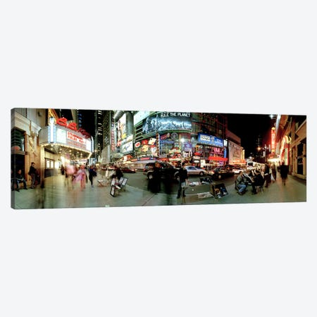 360 degree view of a city at dusk, Broadway, Manhattan, New York City, New York State, USA Canvas Print #PIM8103} by Panoramic Images Canvas Artwork