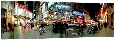 360 degree view of a city at dusk, Broadway, Manhattan, New York City, New York State, USA Canvas Print #PIM8103