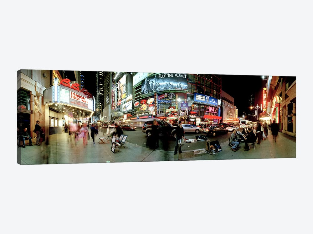 360 degree view of a city at dusk, Broadway, Manhattan, New York City, New York State, USA by Panoramic Images 1-piece Art Print