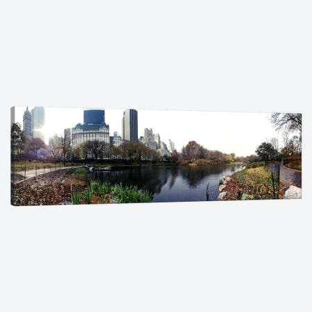 Pond in a park, Central Park, Manhattan, New York City, New York State, USA #2 Canvas Print #PIM8104} by Panoramic Images Canvas Art Print