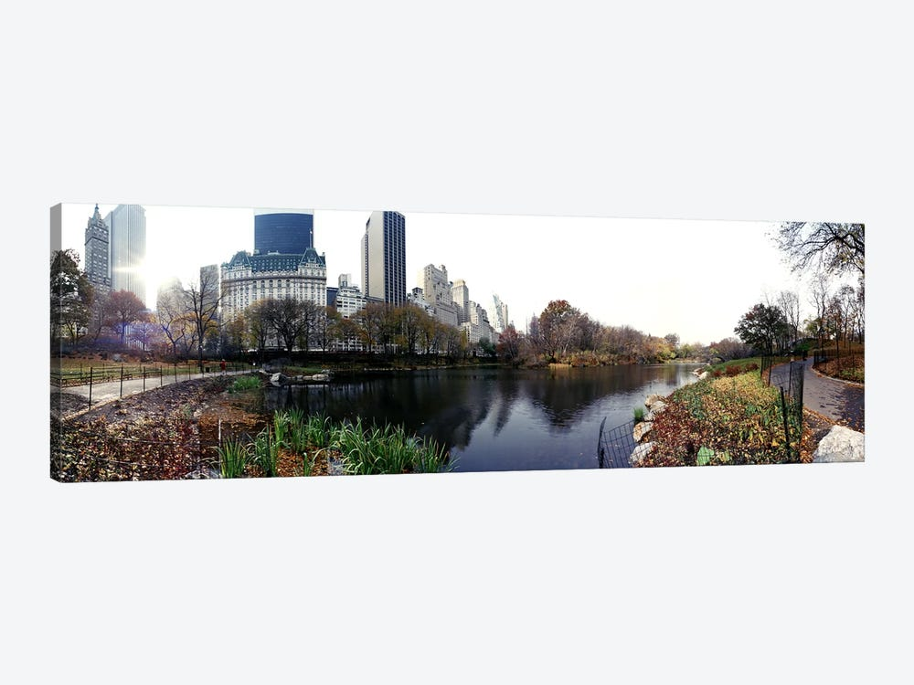 Pond in a park, Central Park, Manhattan, New York City, New York State, USA #2 by Panoramic Images 1-piece Canvas Wall Art