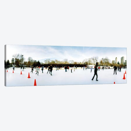 360 degree view of tourists ice skating, Wollman Rink, Central Park, Manhattan, New York City, New York State, USA Canvas Print #PIM8107} by Panoramic Images Canvas Print