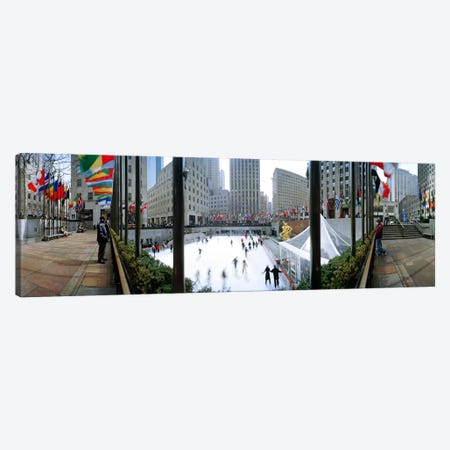360 degree view of a city, Rockefeller Center, Manhattan, New York City, New York State, USA Canvas Print #PIM8108} by Panoramic Images Canvas Wall Art