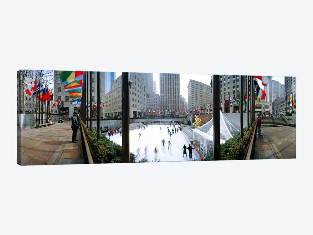 360 degree view of a city, Rockefeller Center, Manhattan, New York City, New York State, USA by Panoramic Images 1-piece Canvas Artwork